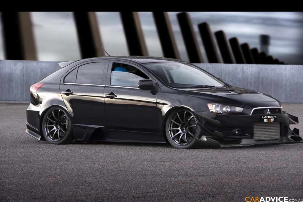mitsubishi lancer sportback stance  Google Search  cars