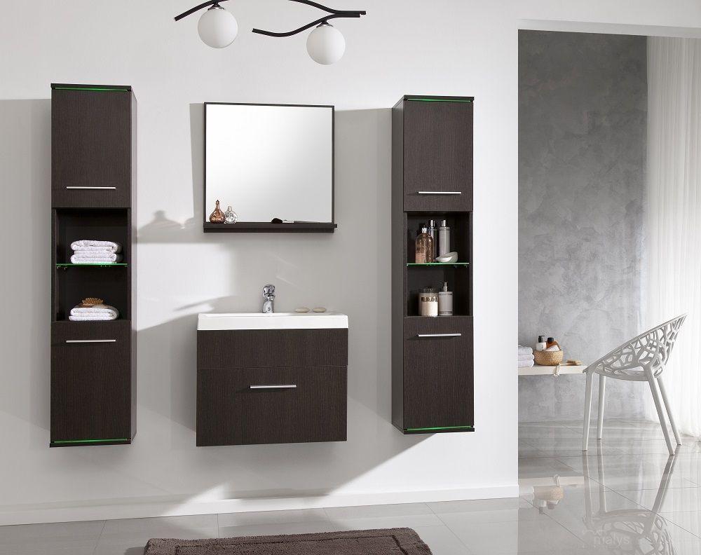 Badkamer Deluxe uitgevoerd in de kleur Wenge | Complete badkamers ...