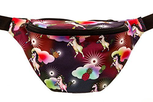ed82c2f2dce2 KANDYPACK Pineapple Unicorn Fanny Pack with Hidden Pocket Perfect ...