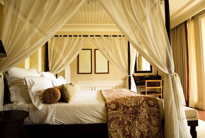 70 slaapkamer interieur ideen gordijnen ophangenhemelbed