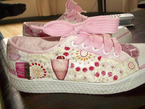 decopauge tennis shoes, diy.. | Crafty Diy | Decoupage ...