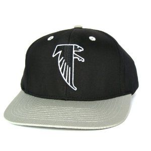 atlanta falcons retro old school snapback hat nfl cap 2 tone black grey