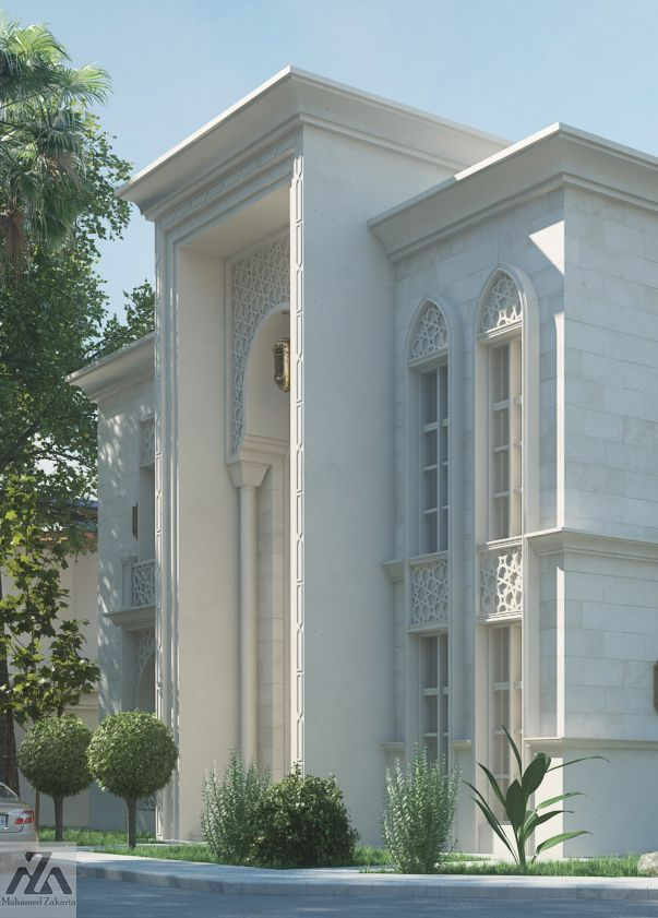 Arabic Villa On Behance Modern House Design Classic House Design House Exterior