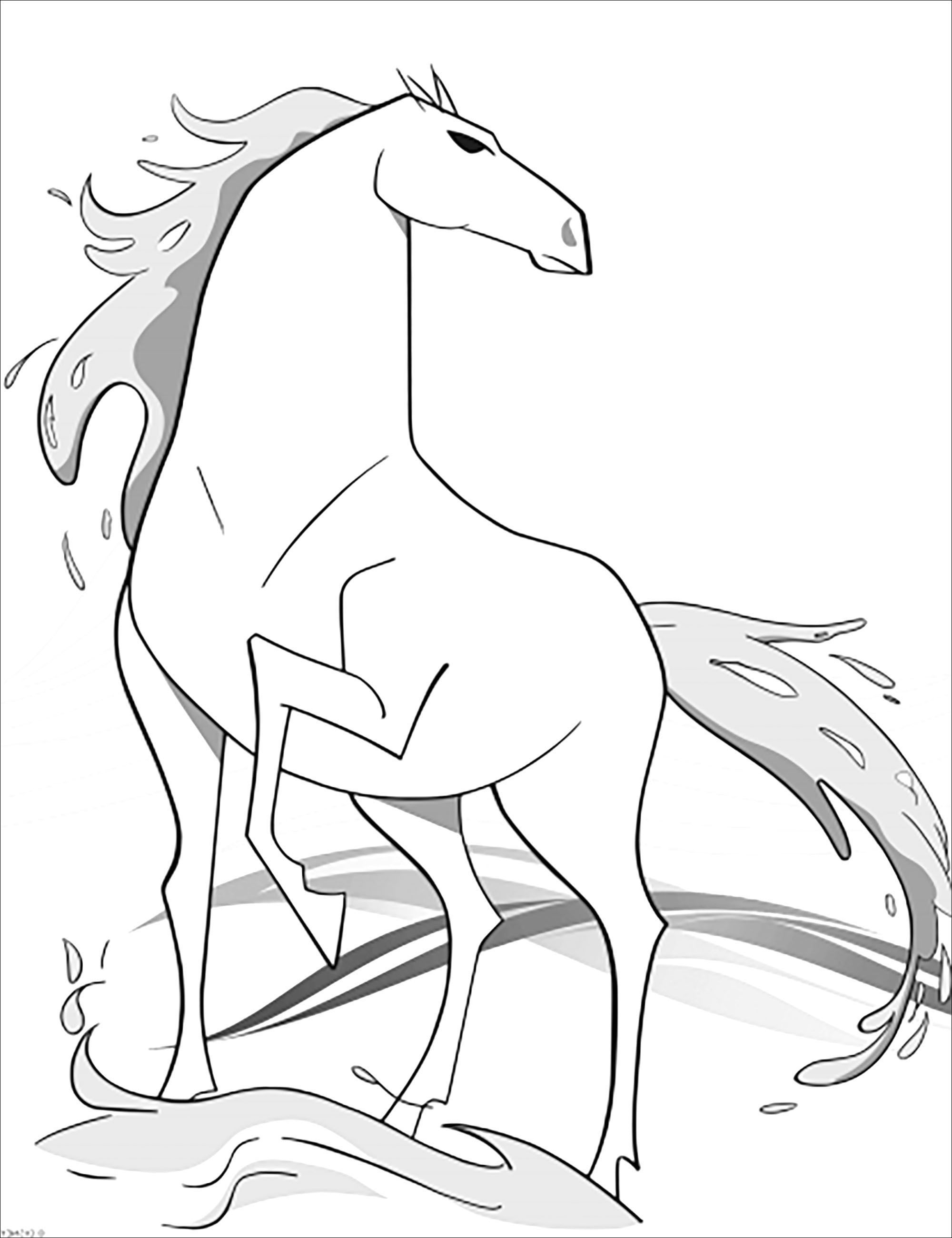 Frozen 2 Nokk Without Text Beautiful Frozen 2 Coloring Page To Print And Color With Nokk From The Gallery F Frozen Para Pintar Dibujos De Frozen Dibujos