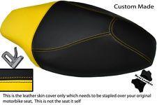 Black & Personalizado Amarillo Fits Yamaha Cs 50 Jog R de doble Cuero Real cubierta de asiento