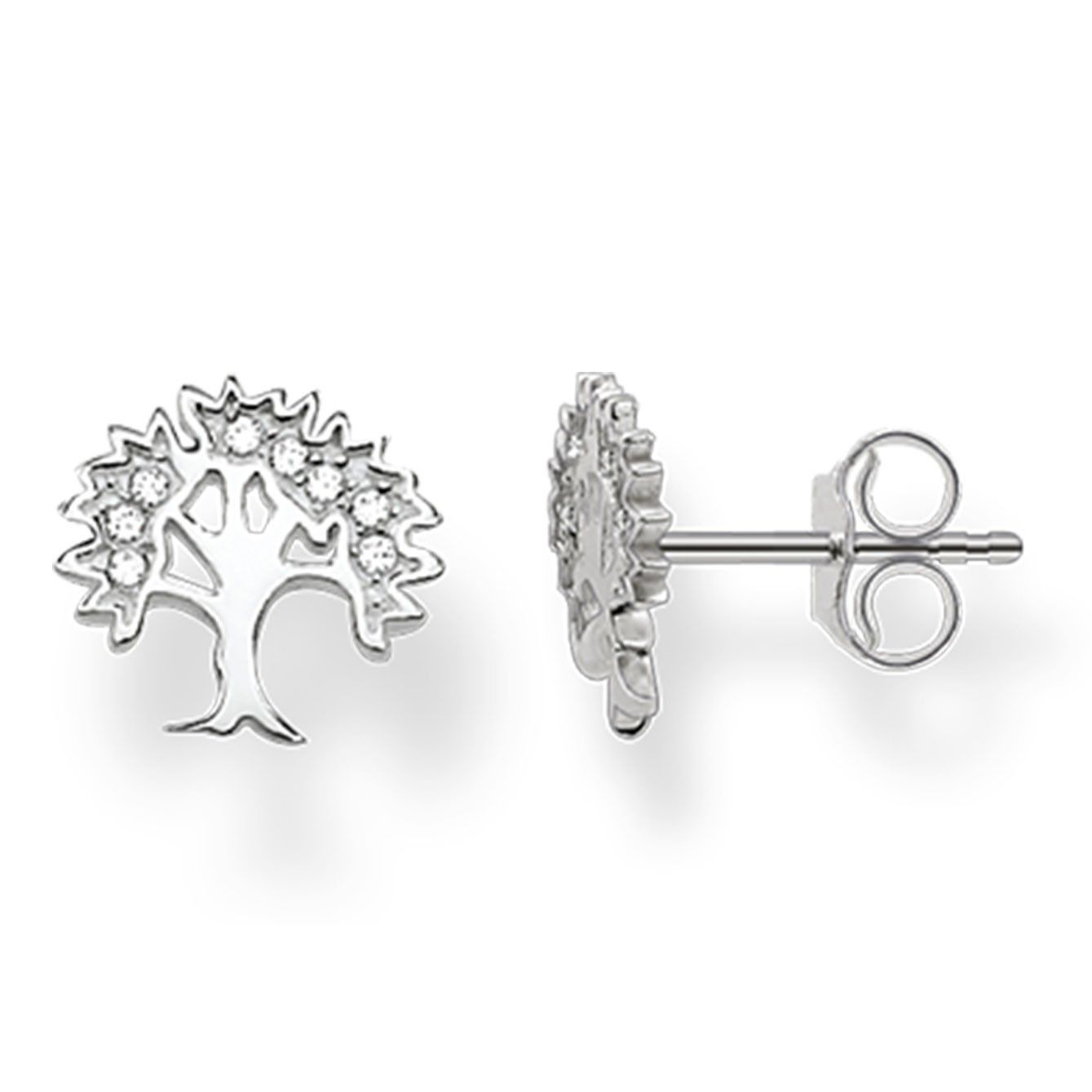 ebc9666af Thomas Sabo Silver Tree of Life Stud Earrings H1870-051-14 | The Jewel