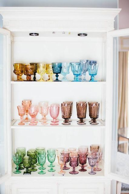 The Perfect Boho Kitchen Accent - Vintage Colored Glassware