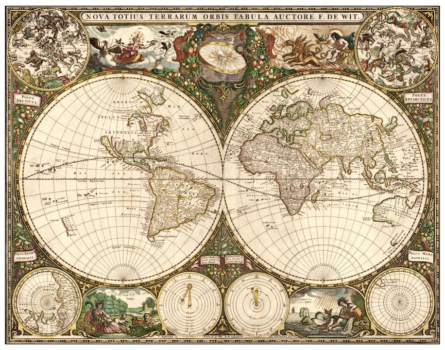 wwwplakatihr Old map Pinterest - new antique world map images
