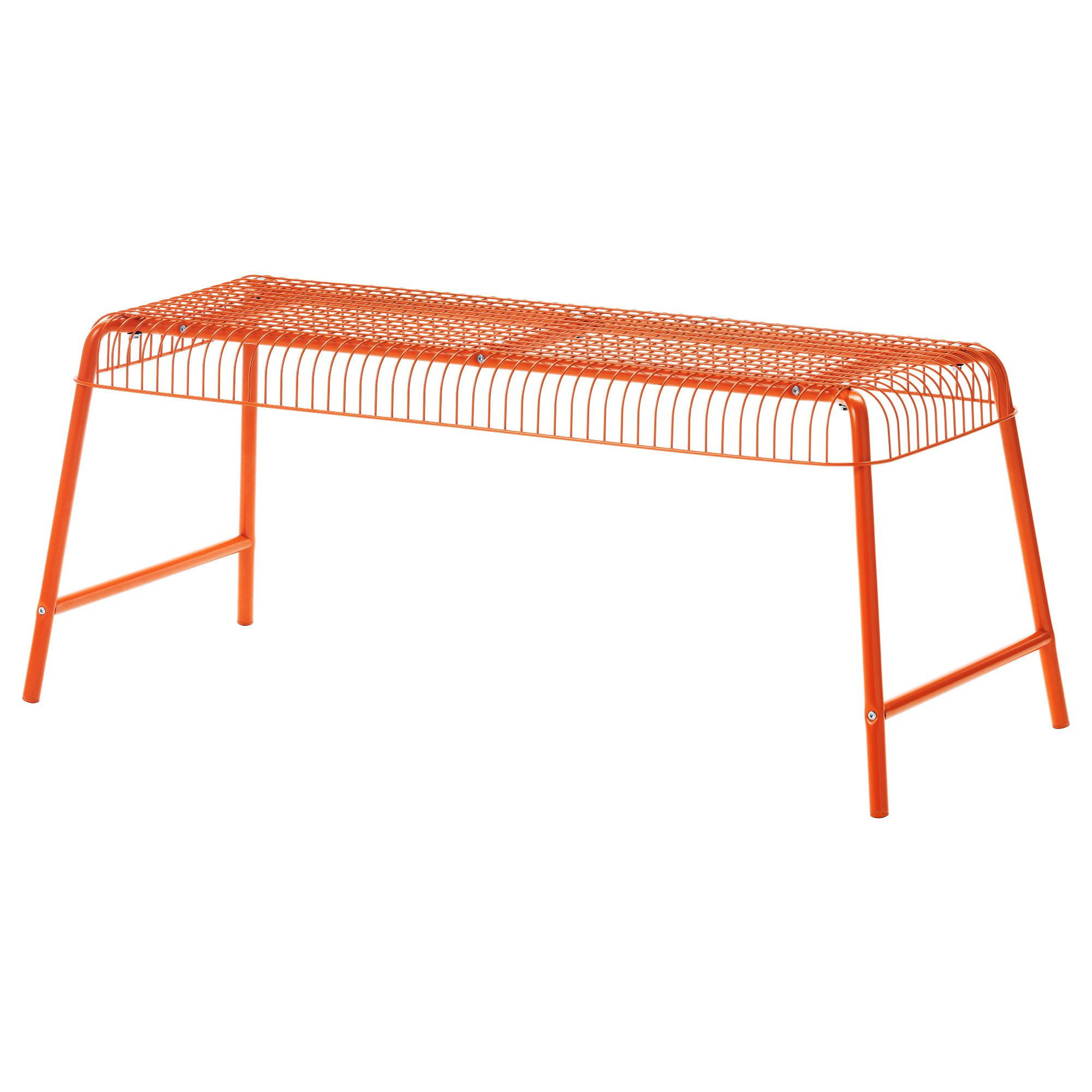 "V""STER–N Bench in outdoor orange"