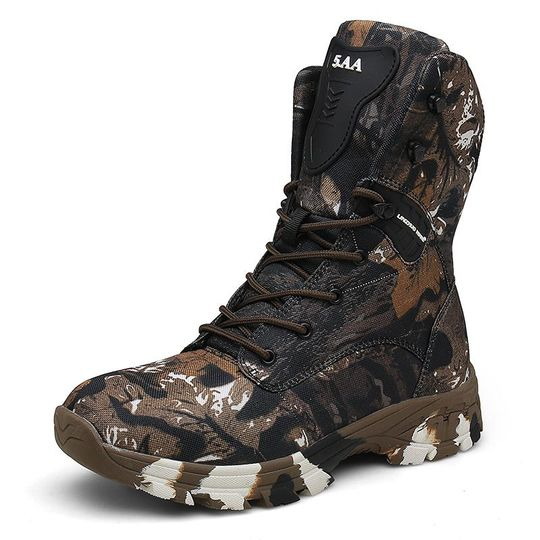 Photo of Desert Hiking Camouflage Fashion Waterproof Tactical Military Boots