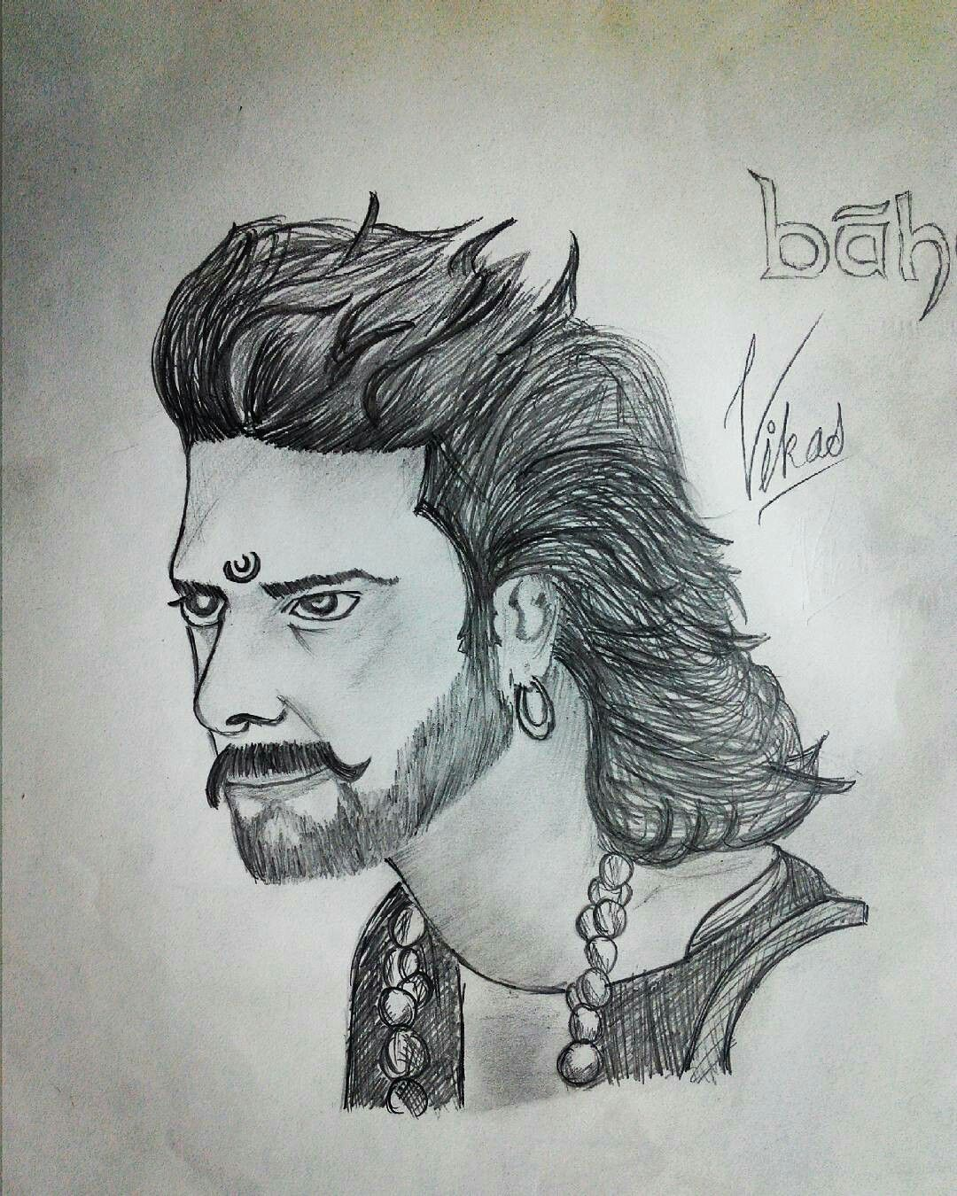 Bahubali prabhas pencil sketch drawing bahubali sketch sketches