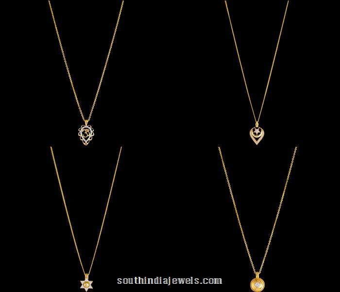 Gold chain with diamond pendants from kalyan jewellers chains gold chain with diamond pendants from kalyan jewellers mozeypictures Gallery