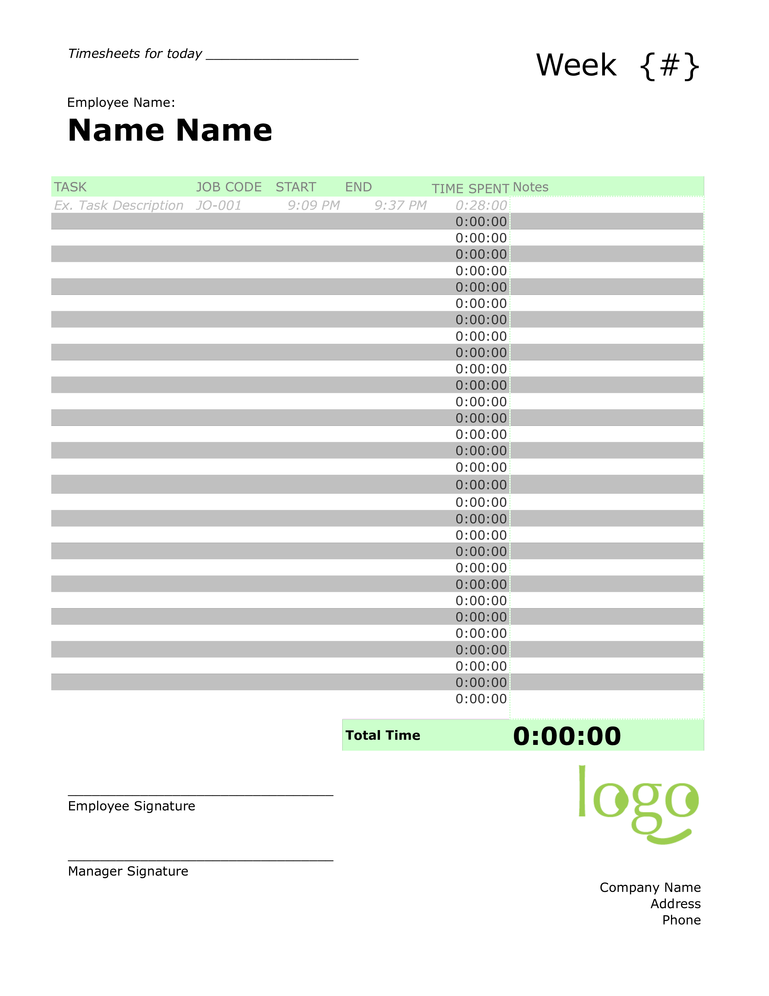 Daily Timesheet How To Set Up A Daily Timesheet Download This Example Daily Timesheet Template Now In Order To Keep Track Timesheet Template Templates Task