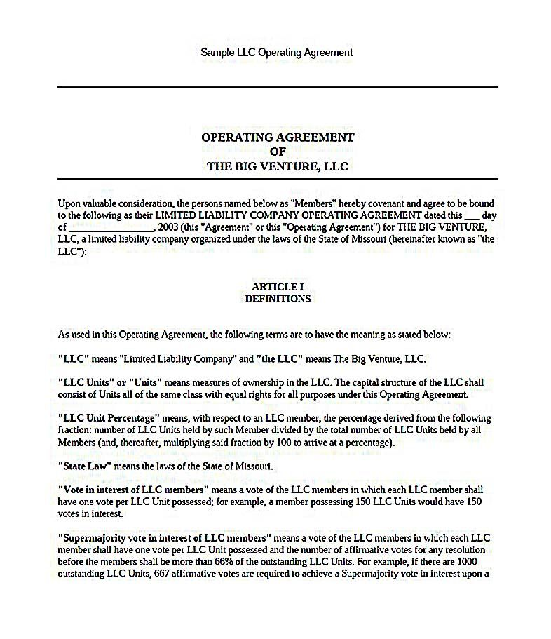 California Llc Operating Agreement 23 Llc Operating Agreement
