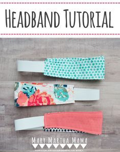 Diy Headband Step B Easy Sewing Projects Pinterest Sewing