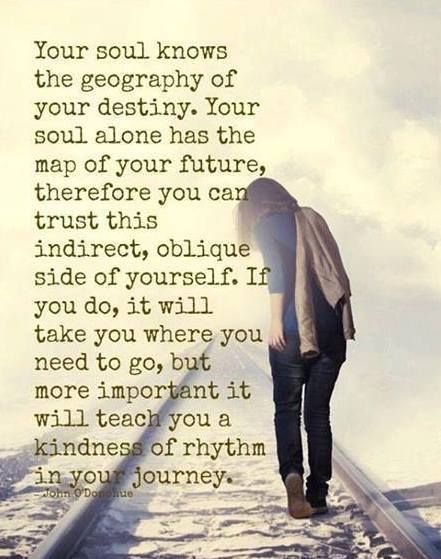 Your Soul Knows The Geography Of Your Destiny. Your Soul