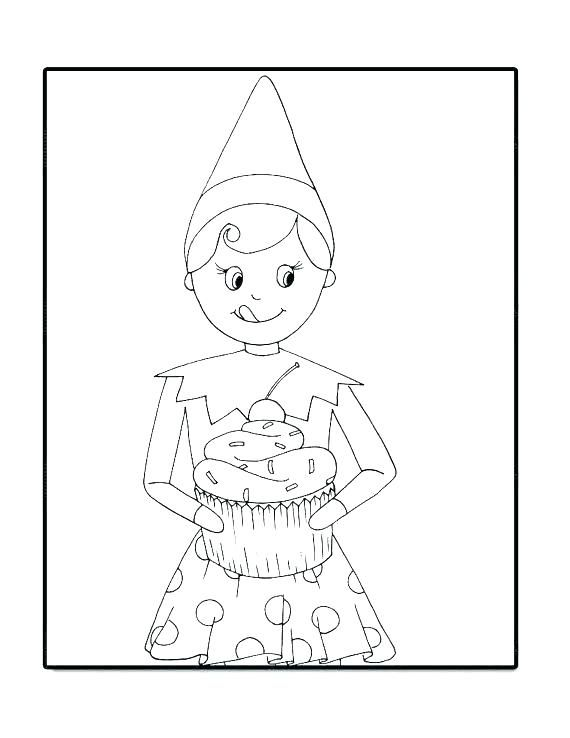 Fresh Coloring Pages Elf On The Shelf Download (With ...