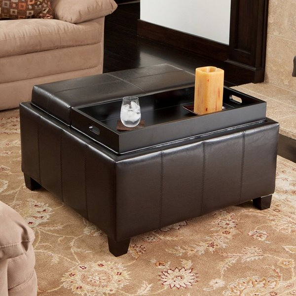Best Selling Home Decor Mansfield Casual Espresso Faux Leather