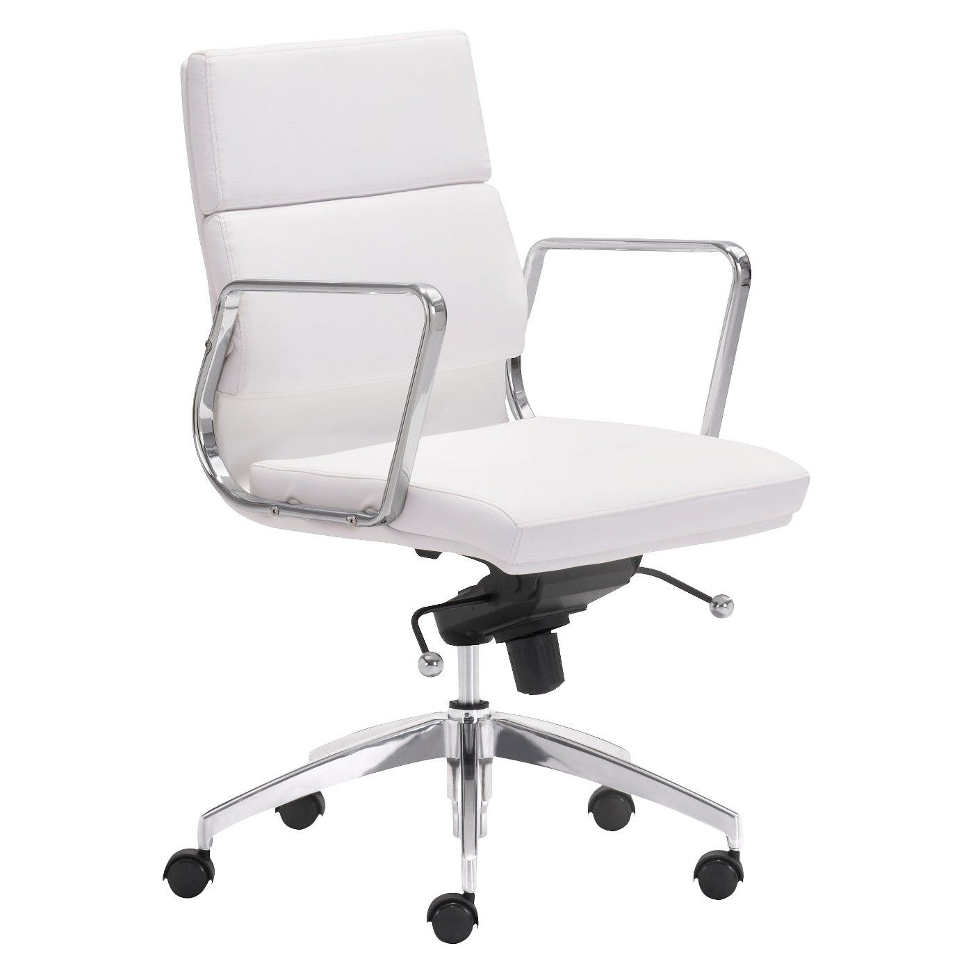 Zuo Engineer Low Back Office Chair Image 1 Of 5 White Office