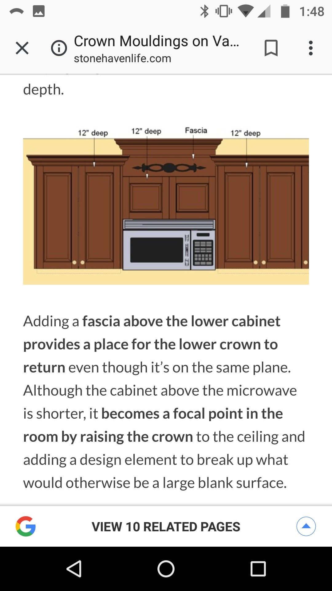 Adding 3 Or So Height To Above Microwave Low Cabinet Deep Fascia Mouldings
