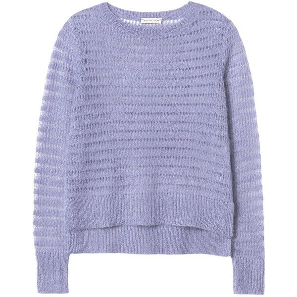 Rebecca Taylor Brushed Pointelle Pullover ($139) ❤ liked on ...