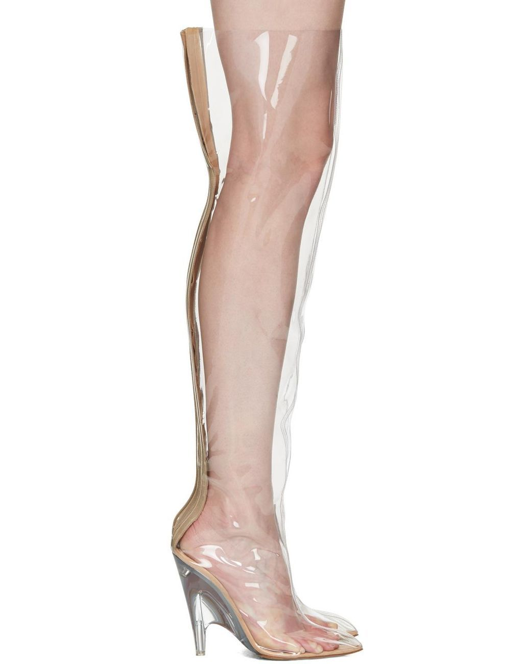 4dc7610ccd3ef Women's Transparent Pvc Tubular Boots | Heels on Fleek - High Heels ...