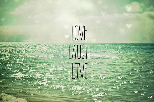 'Love Laugh Live' Art Print