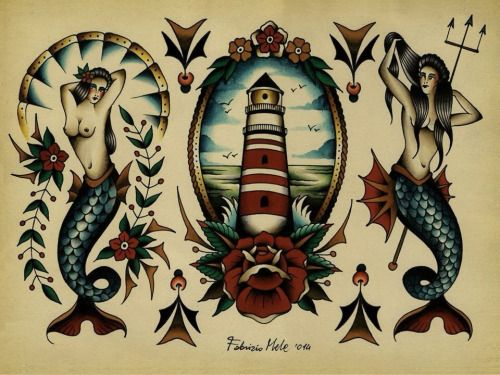 mermaid traditional tattoo tumblr more odds and ends pinterest traditional tattoo. Black Bedroom Furniture Sets. Home Design Ideas