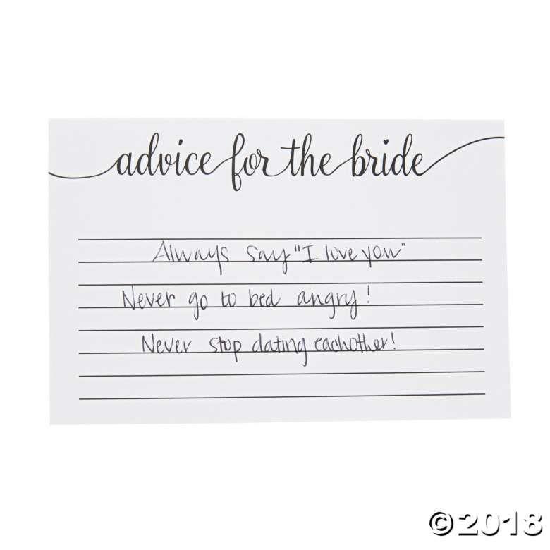 Advice For The Bride Bridal Shower Cards Jga