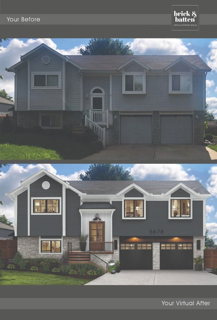 One House Two Ways In 2020 Home Exterior Makeover House Exterior House