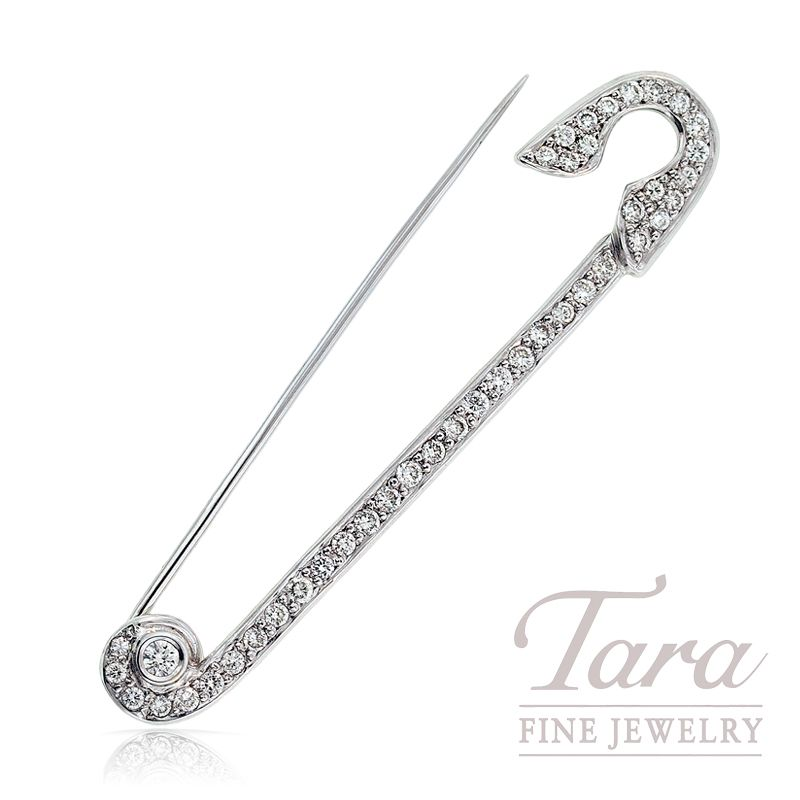 18k White Gold Diamond Safety Pin Tara Fine Jewelry Company Atlanta Estate Jewelry Jewelry Companies Vintage Diamond