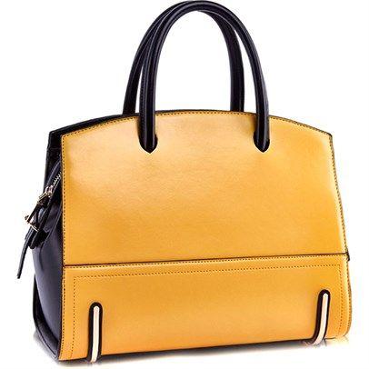 Invite Au Trendy Leather Handbags Brown Genuine Handbag