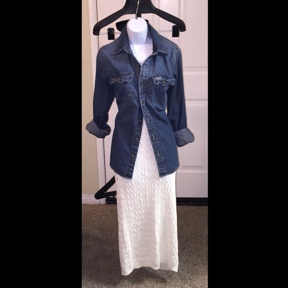 Sweater skirt with iridescent shine Gentle use shirt separate Skirts Maxi