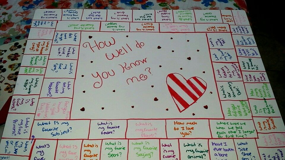 A Board Game To Make On Valentines Day Or Anniversary For