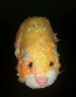 Zhu Zhu Pet Hamster Carly No Tag Tested And Working Pink Orange White Rare Zhu Zhu Pink And Orange Pets
