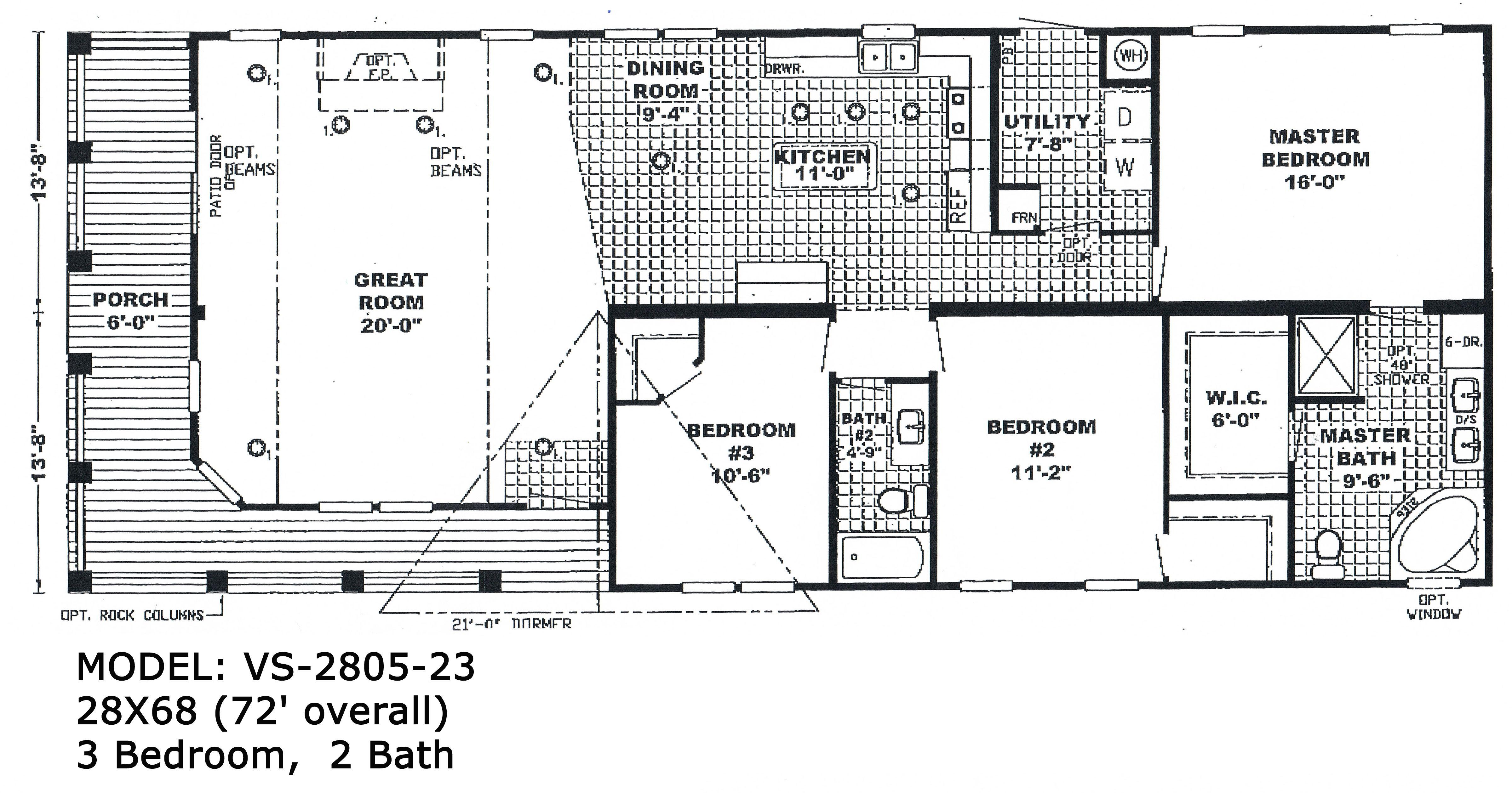 2 Bedroom Double Wide Mobile Home Floor Plans | http://viajesairmar ...