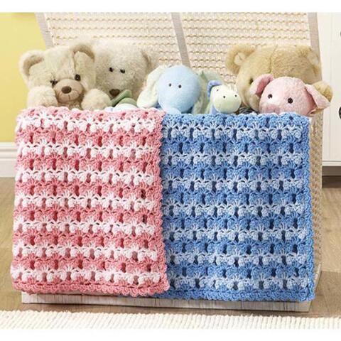 Sweetpea Baby Blankie Crochet Afghan Kit Your Color Choice