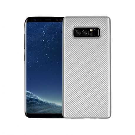 Samsung Galaxy Note 8 Carboon Fiber Case Silver Samsung Galaxy Mobilskal Samsung
