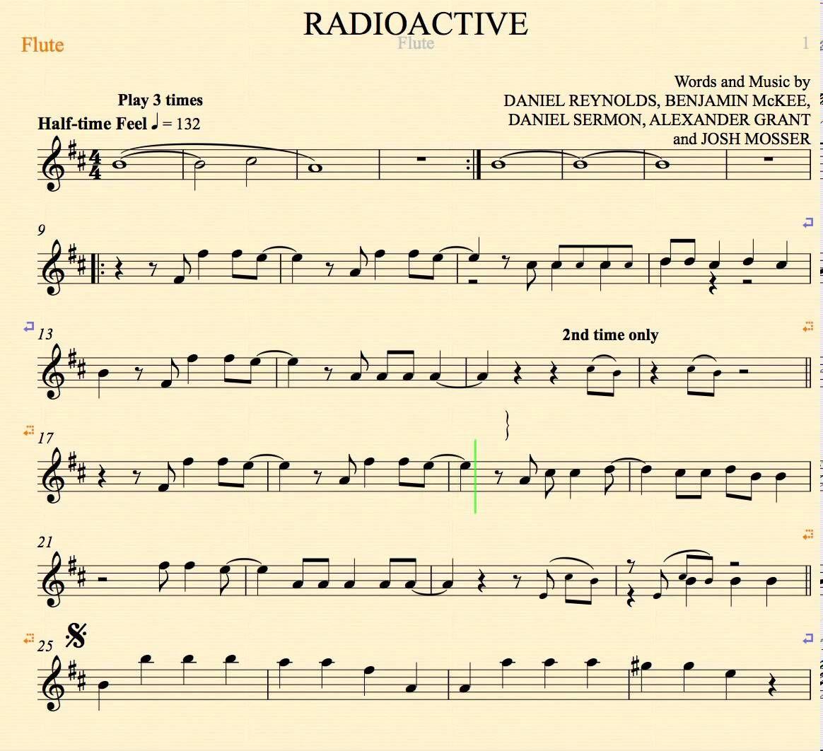 Radioactive Imagine Dragons Easy Piano Sheet Music Free - radioactive imagine dragon free piano ...