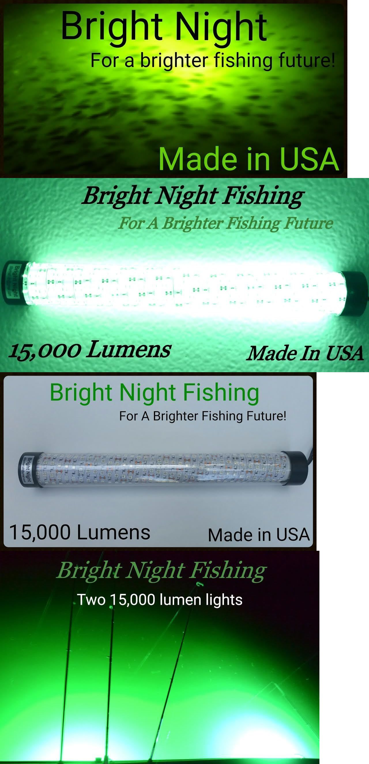 lights 123489: 12v maxx led green underwater submersible night, Reel Combo