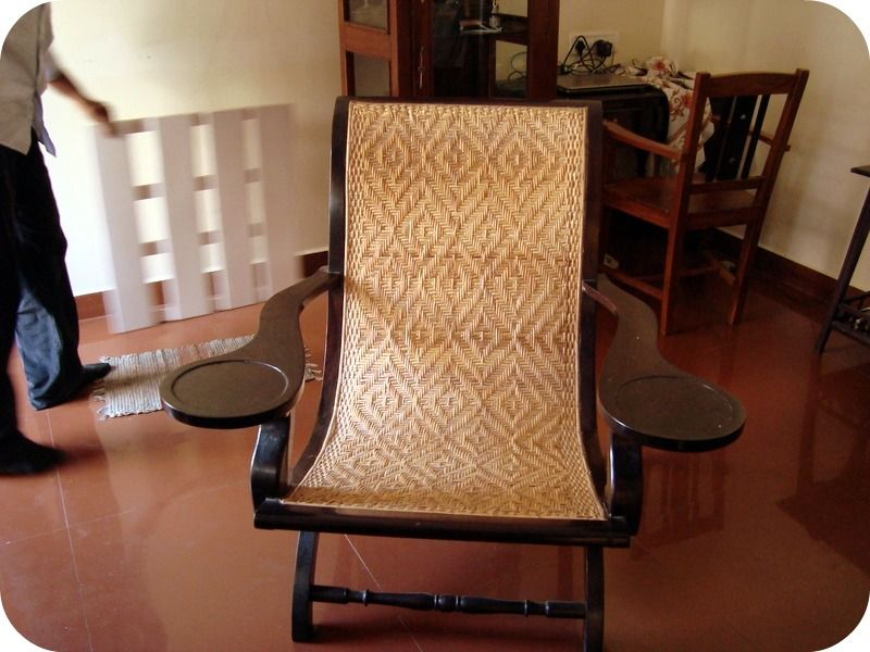 An antique Kerala chair....reading a newspaper in this is bliss - An Antique Kerala Chair....reading A Newspaper In This Is Bliss