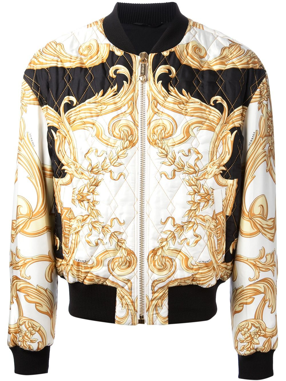 03724fe07 Versace white and gold silk jacket | Men's Style survival Guide ...