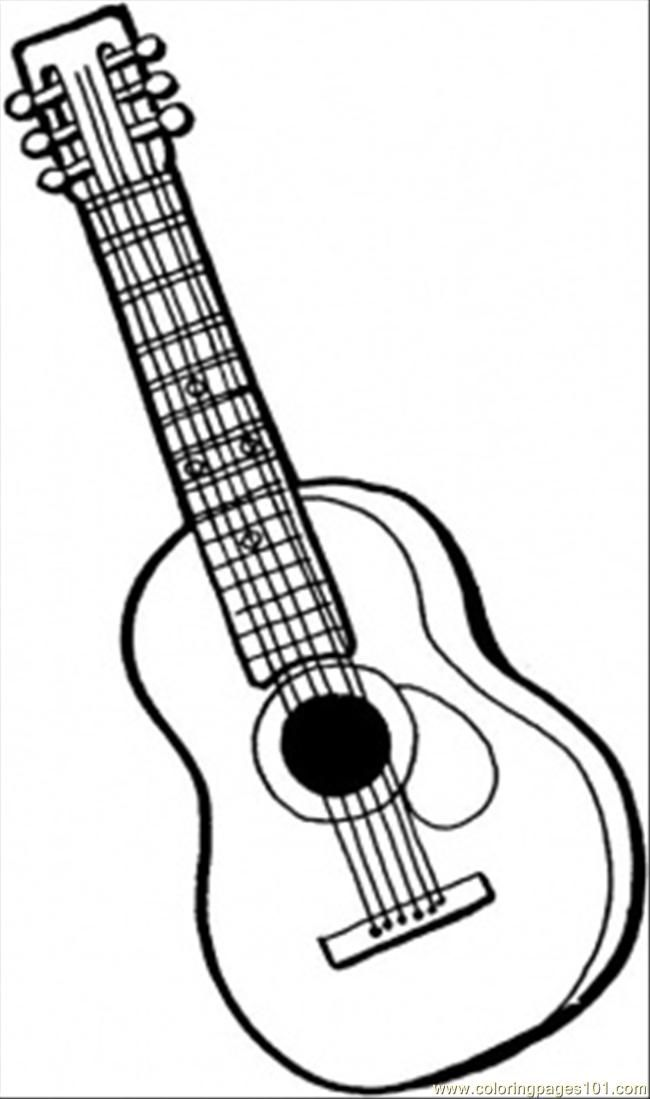 Pin Auf String Instrument Coloring Pages