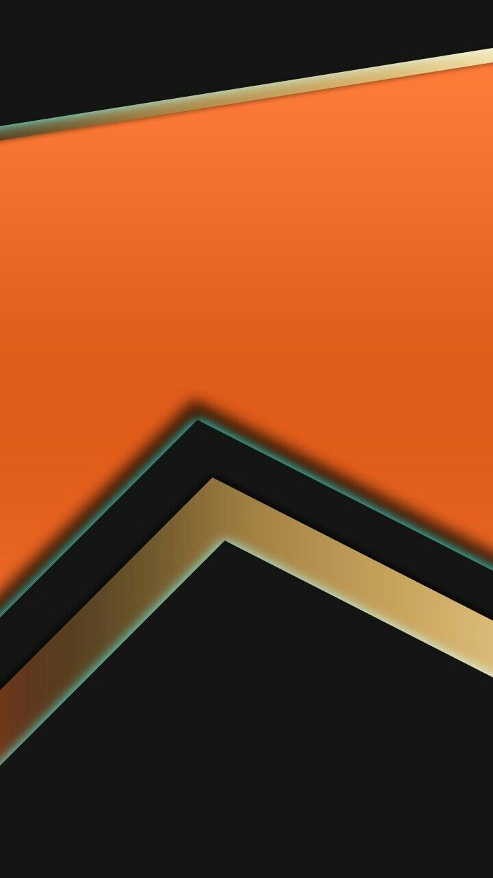 Orange Black And Gold Abstract Wallpaper In 2019 Gold