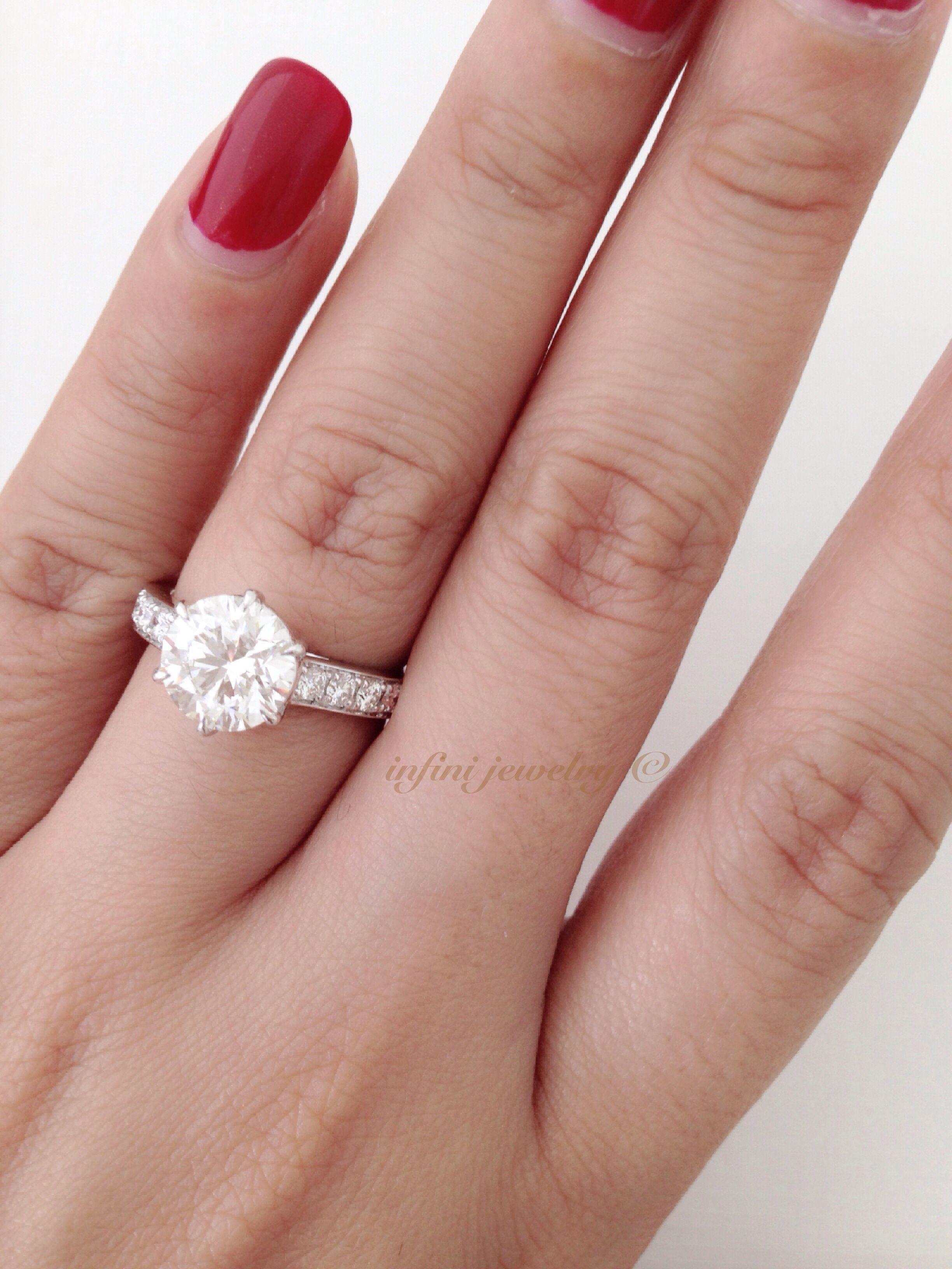 2.02 carats diamond engagement ring | Wedding Jewelry Idea by Infini ...