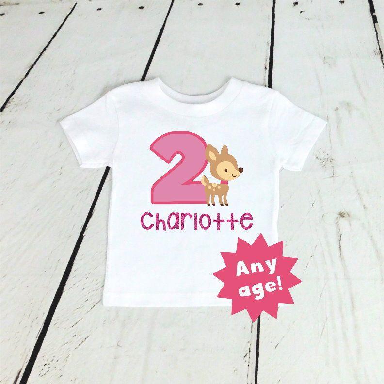58b6ff7d6 Birthday Girl Shirt Girls Birthday Outfit Pink Cake Smash Outfit Birthday  Girl Outfit Two Year Old Girl Birthday Shirt Bodysuit Deer Glitter by ...