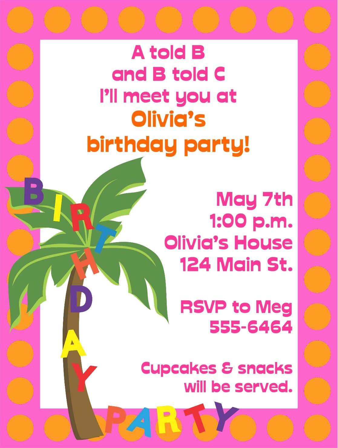 Chicka Chicka Boom Boom Birthday Party Invitations 1100 Via Etsy
