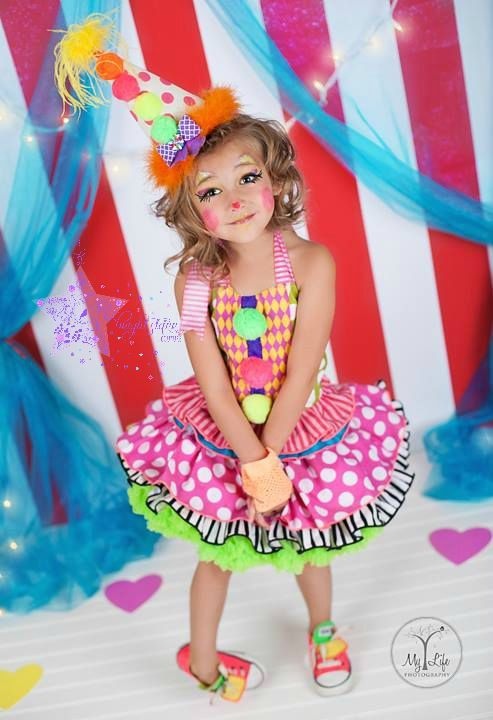Cute clown costume clown costume clown by BrightStarrCouture  sc 1 st  Pinterest & Cute clown costume- clown- costume -clown costume- birthday- dress ...