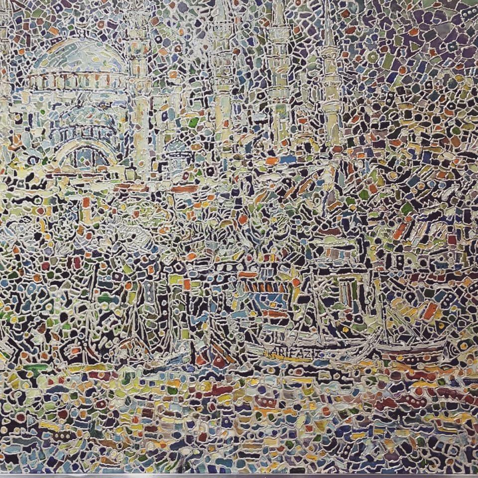 This Artworks Represented By People S Artist And Painter From Azerbaijan Arif Aziz əsərin Muəllifi Azərbaycan Xalq Rəssami Rənkari Ar Painter Artist Artwork