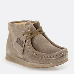 7f0fdc115 Boys Wallabee Boot First Taupe Distressed - Clarks Originals Boys Boots -  Clarks® Shoes